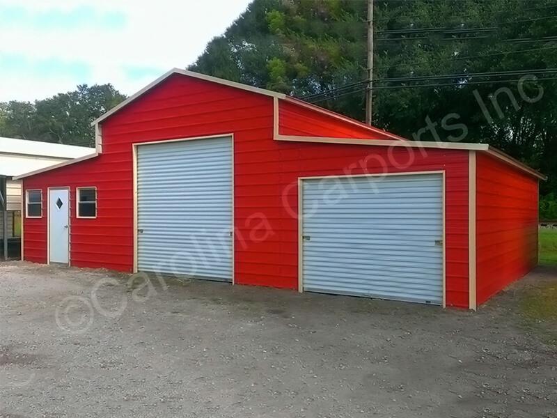 Boxed Eave Roof Carolina Barn Fully Enclosed