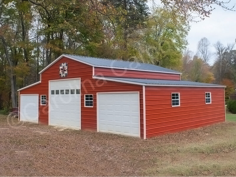 Vertical Roof Style Carolina Barn Fully Enclosed