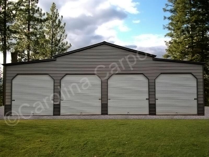 Carolina Barn With Four Garage Doors