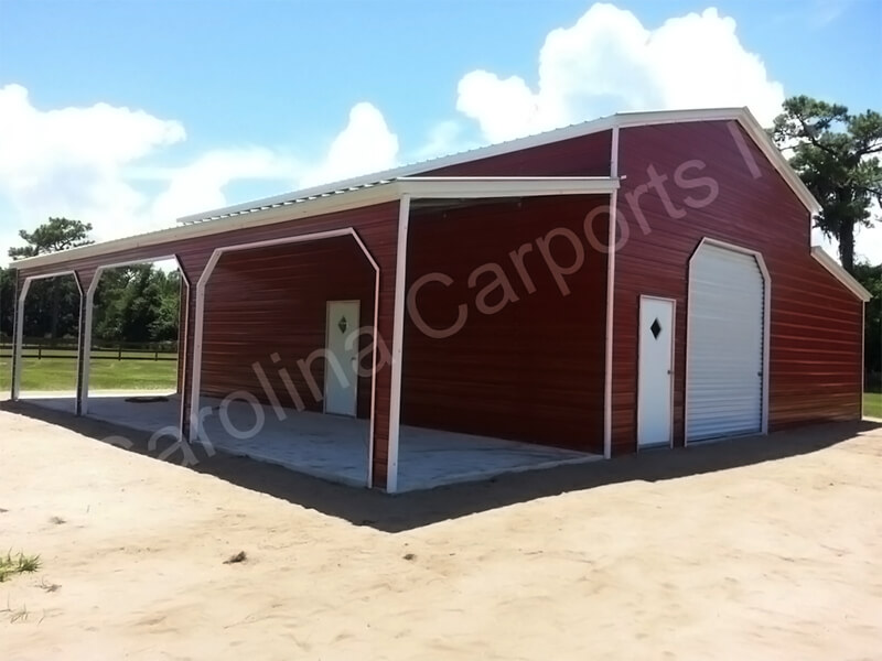 Vertical Roof Carolina Barn with Side Entry's-328