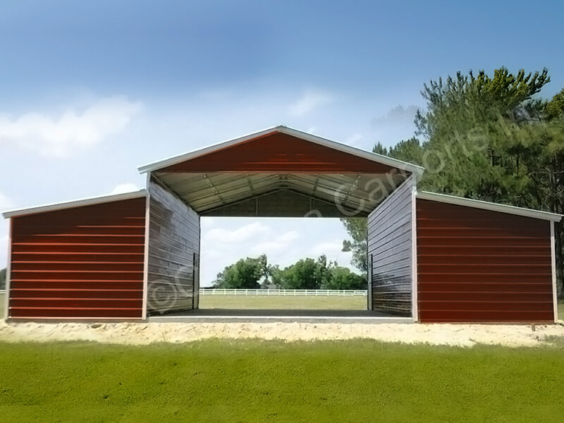 Carolina Barn with Two Fully Enclosed Lean To's-329