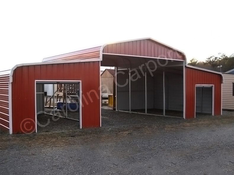 Regular Horse Barn With 6'x6' Garage Door