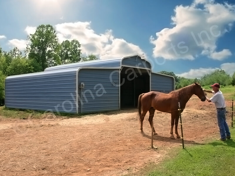 Horse Barn with Horizontal Gable Ends