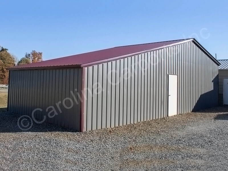 All Vertical Roof Seneca Barn Fully Enclosed
