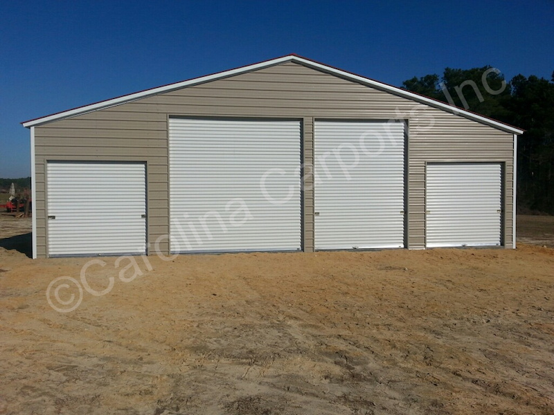Fully Enclosed All with Garage Doors-376