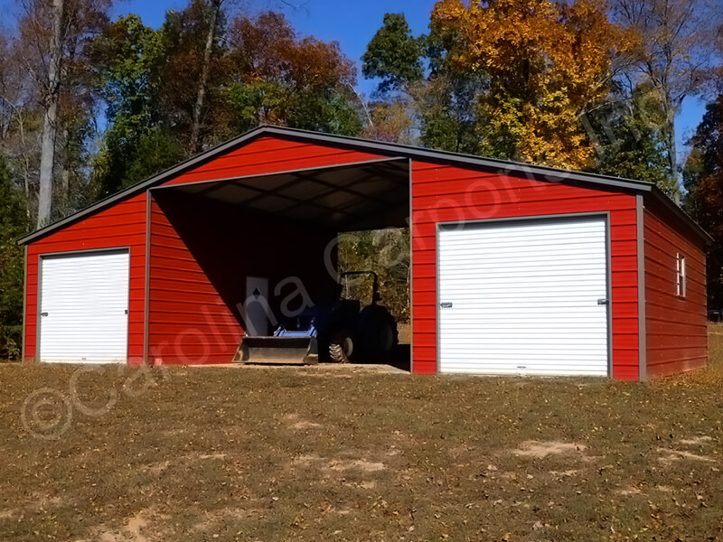 Seneca Barn Two Fully Enclosed Lean To's