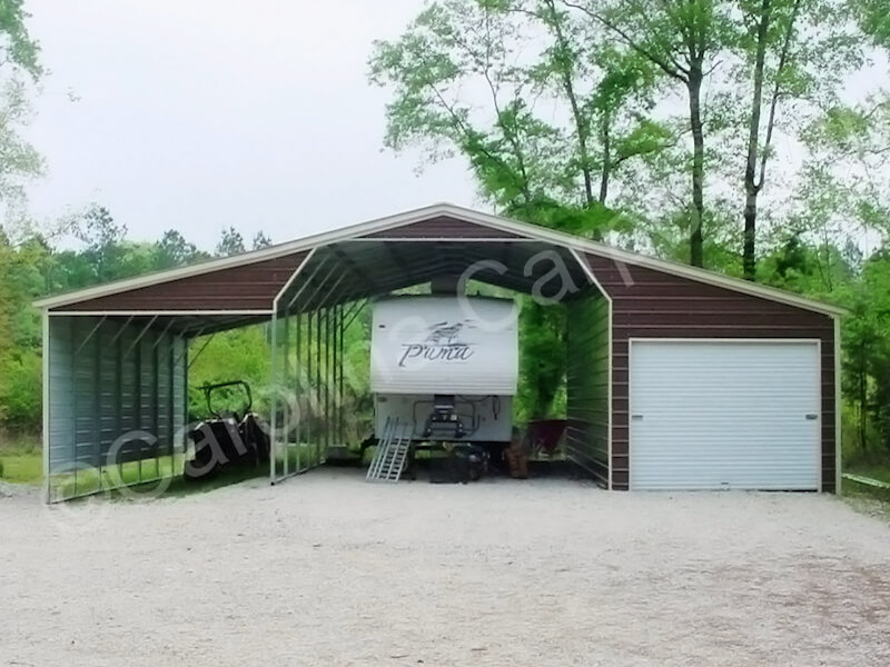 Seneca Barn with Fully Enclosed Lean To-344