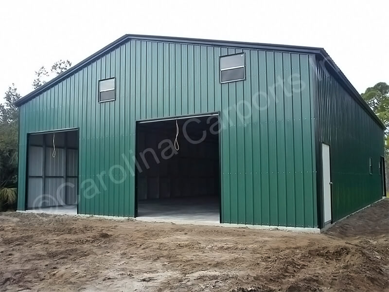 Fully Enclosed Garage with Two Garage Doors-347