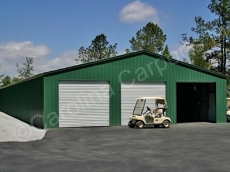 Vertical Fully Enclosed Three Garage Doors
