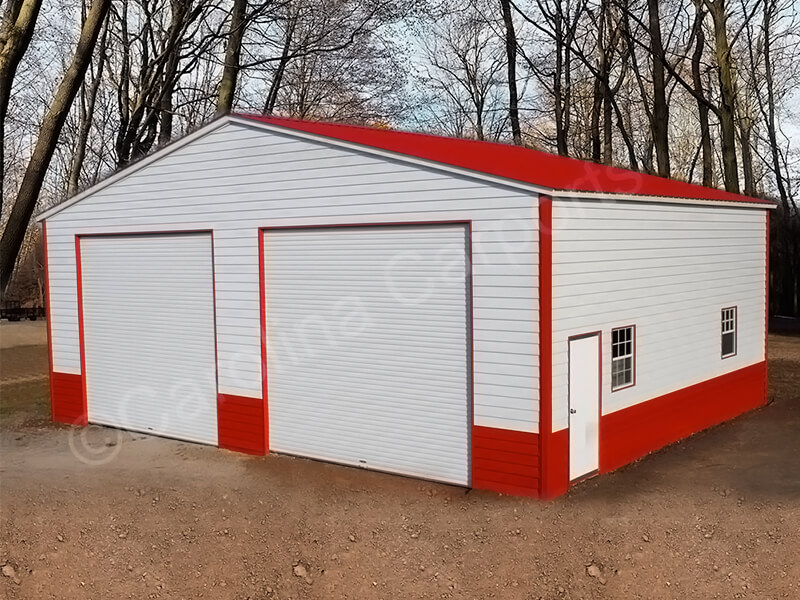 Vertical Roof Fully Enclosed  with Lap Siding-355