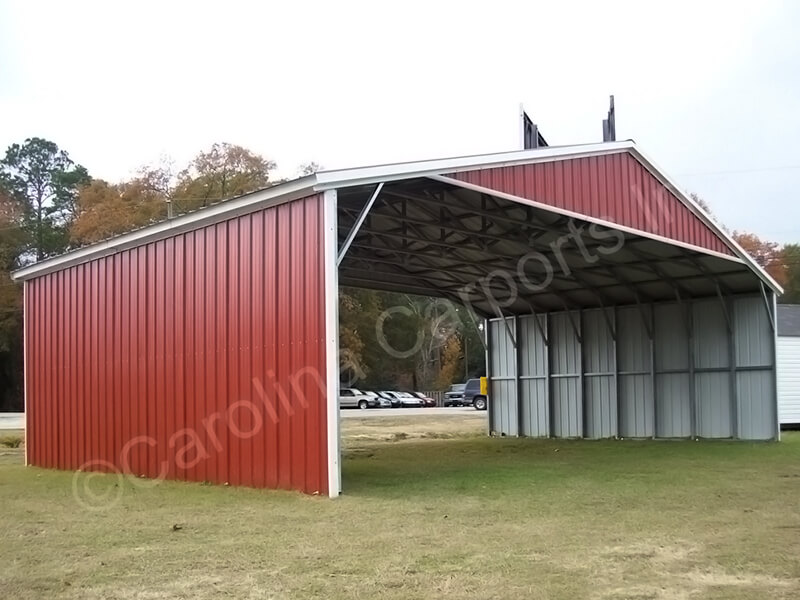 All Vertical 40' Wide With Two Sides Closed