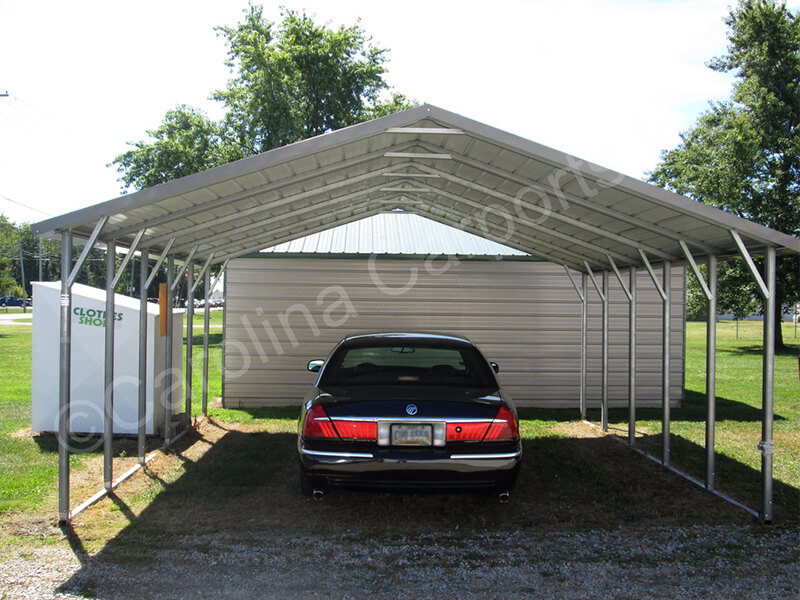 Top Only Boxed Eave Carport