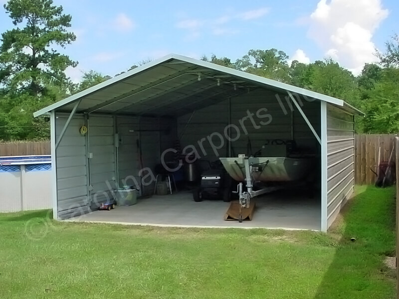 Boxed Eave Carport with Both Sides Closed-247