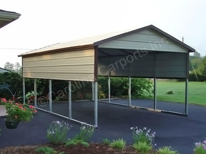 Boxed Eave Style Carport with One Panel-248