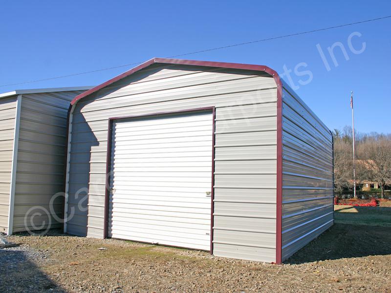 Garage with One 9x8 Garage Door on End-396