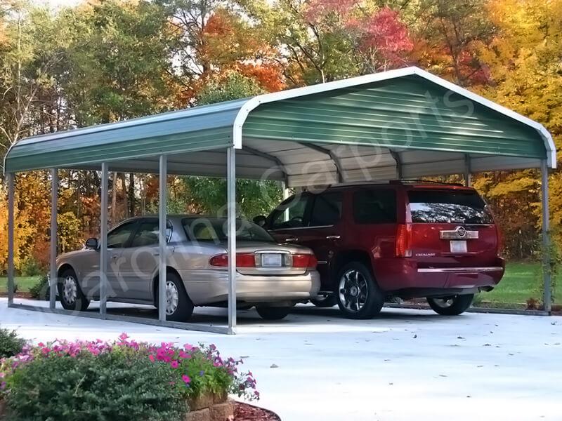Regular Style Double Vehicle Carport