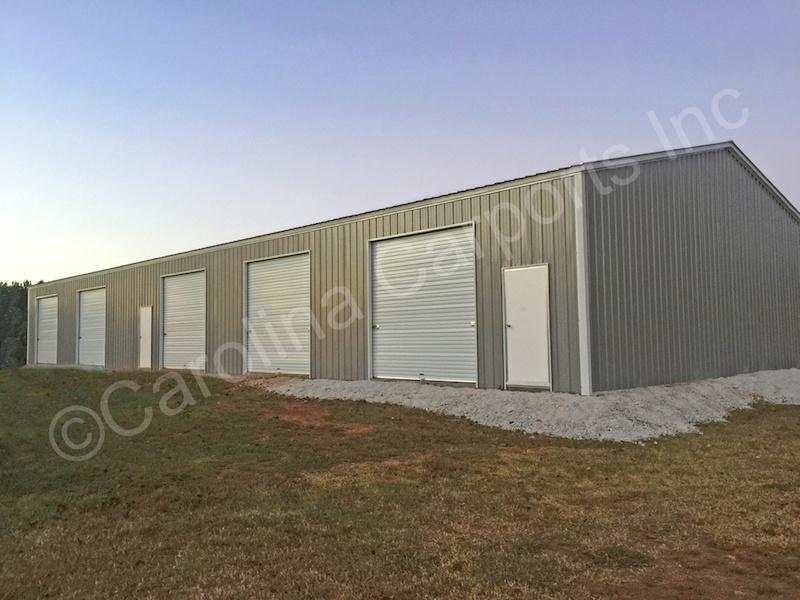 Garage with Five 10x10 Garage Doors