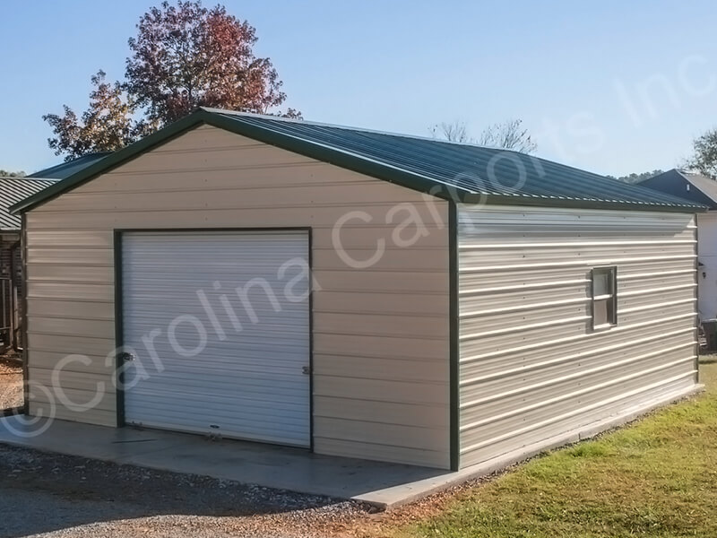 Vertical Roof Style Fully Enclosed Garage-278