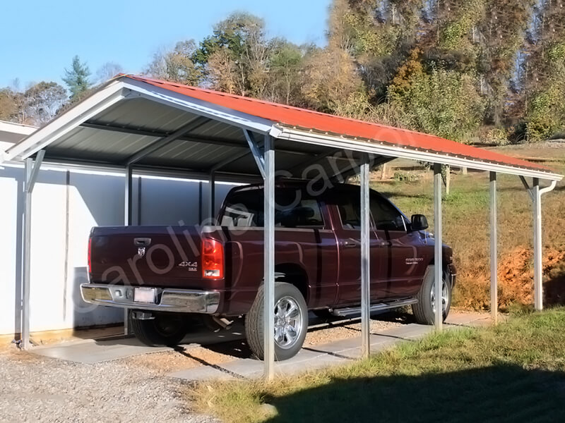 Vertical Roof Style Carport-273