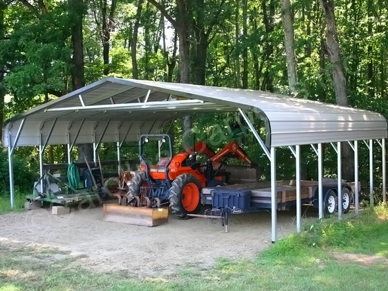 Regular Roof Style Triple Wide Carport