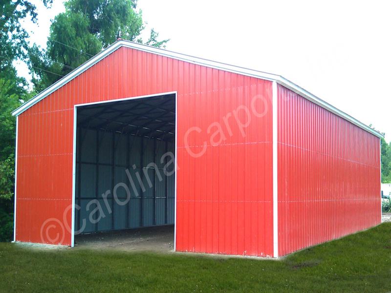 Garage with Garage Door Frame Out-417